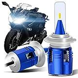 WinPower バイク用LEDヘッドライトH7 LEDキット DC12V直流 35Wx2 6500K 5400lmx2 五面発光CSPチップ 一体型 冷却ファン付き 2年保証 2灯セット