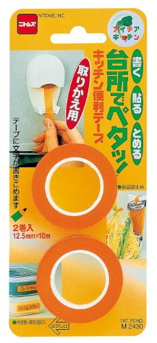 【書く・貼る・留める。キッチンで使える便利アイテム! 】 ニトムズ キッチン便利テープ 取りかえ用 M 2430