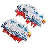 FLAMEER 約100本 クリスマス カップケーキ 子供 誕生日 ケーキ トッパー 6タイプ選べ   - 雪だるま
