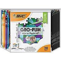 BIC GEO-FUNカラーパズルアクティビティキット アソートカラー 36個