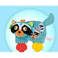 ShowkingキュートComforters玩具ソフトハンドタオルショート豪華Civet猫おもちゃ掛け布団コットンタオル_ブルー