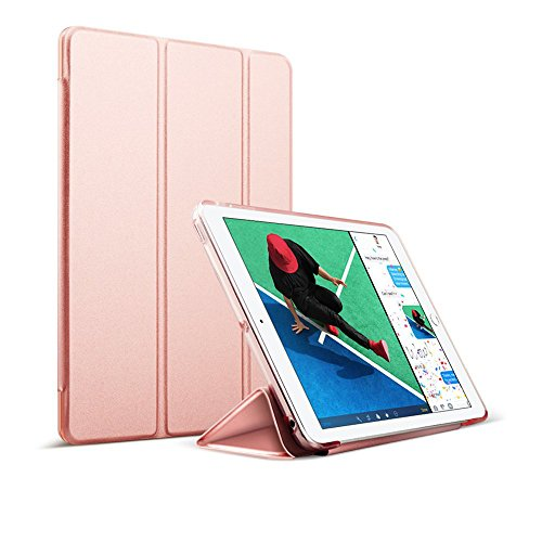 MS factory iPad 9.7 ケース カバー 2017 新型 第5世代 スマートカバー 新型iPad 耐衝撃 ソフト フレーム オートスリープ ケースカバー 全9色 ローズゴールド IPD5-S-TPU-RSGD