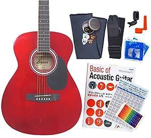 アコースティック・ギター アコギ 初心者 12点セット Legend FG-15 スタートセット アコギ 入門 CA [98765]