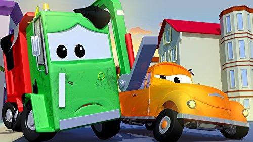 ゴミ収集車のギャリー3 & クレーン車のベビーチャーリーとタクシーのベビージェレミーが絡まっちゃった!そして, レッカー車のトム, (子供向け)車&トラックの 建設アニメ