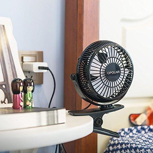 OPOLARF801 卓上扇風機 クリップ式扇風機 せんぷうき ミニ扇風機 卓上扇風機 USBファン  冷風機 風量2階段調節 クリップ型扇風機 デスク扇風機 オフィス用扇風機 超静音 小型扇風機 ミニファン 持ち便利 コンパクト (クリップ式)