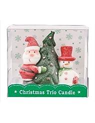 kameyama candle(カメヤマキャンドル) クリスマストリオキャンドル 「 ツリー 」(A3220020)