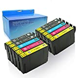 YRSINK 10Pack Generic Ink Cartridges High Yield Replacement for 220 220XL Compatible with Epson XP-220, XP-320, XP-324, XP-420, WF-2630, WF-2650, WF-2660, WF-2750, WF-2760