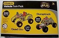 [Sambroインターナショナルリミテッド]Sambro International Limited Stanley Construct & Play Vehicle Twin Pack 343 Piece Set STN-193 [並行輸入品]
