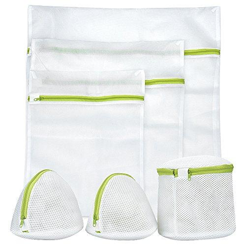 洗濯ネット KAIDI ランドリーネット 6個補強芯メッシュ 洗濯袋セット ランドリーネット 洗濯袋セット 絡み防ぎ 旅行ネット 洗濯機用·収納·旅行·出張など最適  サイズの異なる6枚セット