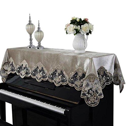 ピアノカバー ピアノトップカバー アップライト トップカバー 防塵カバー 人気 無地 レース 洋風 ギフト モダン 刺繍 静電気防止 お祝い 灰つけない 二色