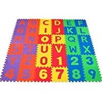 無毒36ピースABCフォームマット - 子供&幼児用アルファベット&数字パズルプレイ&フローリングマット (並行輸入) 141[並行輸入]