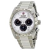 チューダーFastriderクロノグラフホワイトダイヤルステンレス鋼メンズ時計42000-wsss