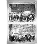 1869 人の選挙のパリの議会の投票に人々の会うこと