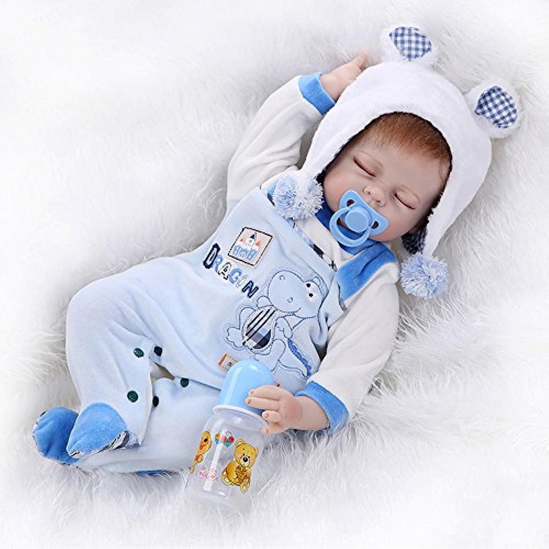 RealisticソフトSiliconeビニールRebornベビー人形男の子22インチ55 cm Lovely Lifelikeキュート赤ちゃん男の子女の子おもちゃ