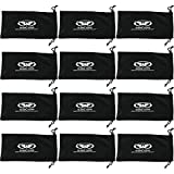 Twelve Large Black Micro-Fiber Bags Sunglasses Goggles Cell Phone Carrying Pouch Case Sleeve