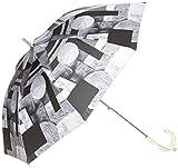 [ムーンバット] estaa×KESHIKI 晴雨兼用(UV遮蔽99% 遮光99% 以上) Weekend City スライドショート式 長傘 31-231-30000-06 レディース ブラック 日本 親骨の長さ47cm (Free サイズ)