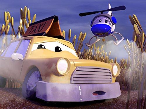 タクシーのジェレミーが霧の中で行方不明!/バスのリリーが崖にぶら下がり!/解体クレーン車のデーンが橋に挟まる!/学校にいたずら書き!