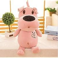 HuaQingPiJu-JP かわいいクリエイティブソフトラブドッグ布ぬいぐるみピローおもちゃの子供のおもちゃ(ピンク)