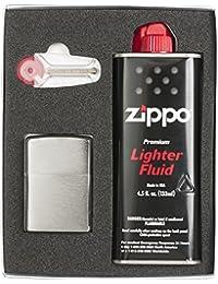 ZIPPO(ジッポ) ライター 200モデル ギフトボックス(フリント、オイル小缶付) 200SET