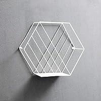 ウォールシェルフ 北欧の錬鉄の創造的な六角形の壁には、ストレージラック/壁装飾フレーム、ディスプレイスタンド(29 * 11 * 25センチメートル)を搭載。 (色 : B)
