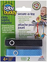 Baby Buddy ベビー バディ Secure-A-Toy 2ct おもちゃストラップ2色各1本組 【アメリカ製】 Navy&Blue ネイビー&ブルー