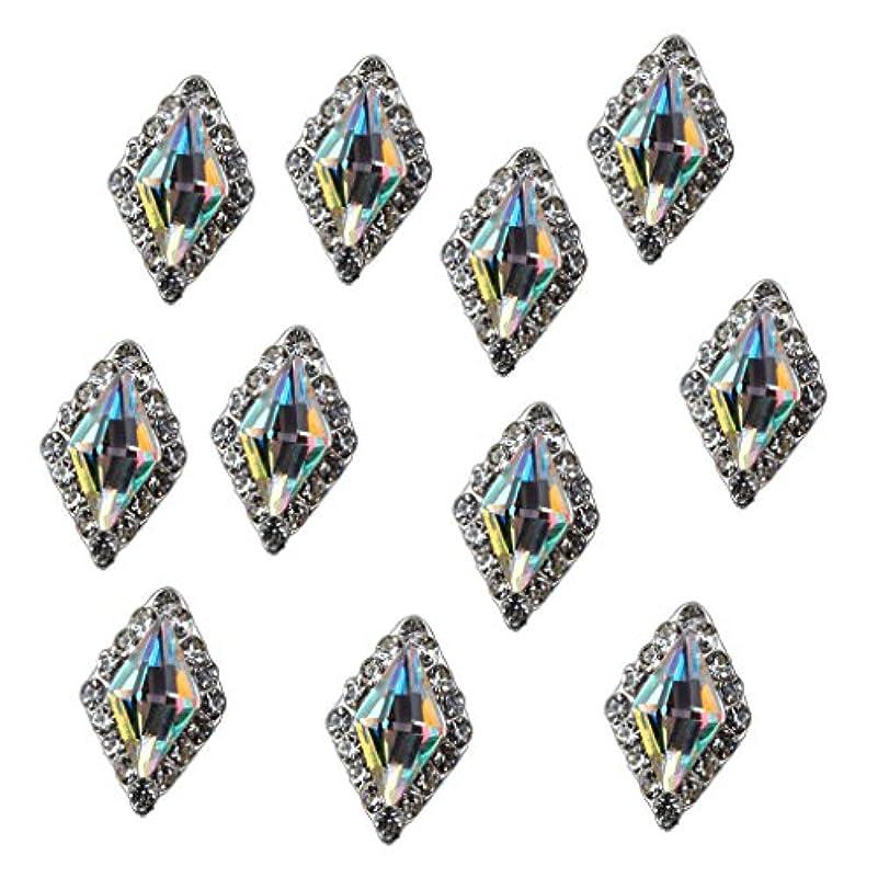 スラム街海藻規模Toygogo 10個の光沢のあるネイルアートのラインストーンのヒントダイヤモンドクリスタルチップの装飾 - #1