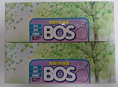 驚異の防臭袋 BOS (ボス) LLサイズ 60枚入り 【袋カラー:ホワイト】×2個セット