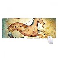 1月の山羊座星座の十二宮 ノンスリップゴムパッドのゲームマウスパッドプレゼント