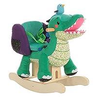 Labebe 子供用ロッキングホース キッズ用木馬 乗用おもちゃ 柔らかいシート - グリーンワニ