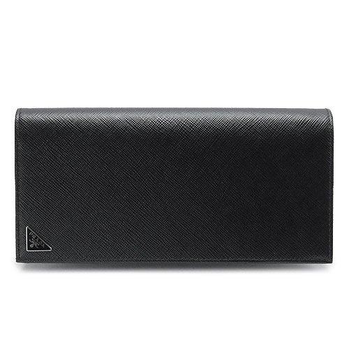 (プラダ)PRADA 長財布 2MV836 QHH F0002/SAFFIANO TRIANG NERO 財布 二つ折り メンズ財布 サフィアーノトライアングル 型押しレザー ブラック [並行輸入品]