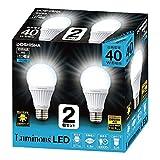 ルミナス LED電球 E26口金 40W相当 昼白色 広配光タイプ 密閉器具対応 2個セット CM-A40GN2