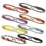 新型 POD READER SMART 老眼鏡 携帯用 見やすく楽に掛けられる 超軽量・薄型タイプ ケース付で傷付も安心[PrePiar](ブルー +1.5)
