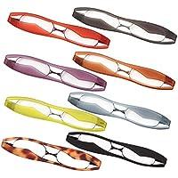 新型 POD READER SMART 老眼鏡 携帯用 見やすく楽に掛けられる 超軽量・薄型タイプ ケース付で傷付も安心[PrePiar](ブルー +1.0)