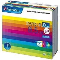 三菱化学メディア Verbatim DVD-R DL 8.5GB 1回記録用 2-8倍速 5mmケース 10枚パック ワイド印刷対応 ホワイトレーベル DHR85HP10V1