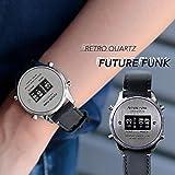 (フューチャーファンク)FUTURE FUNK アナログデジタルクオーツ腕時計 F シルバーブラック