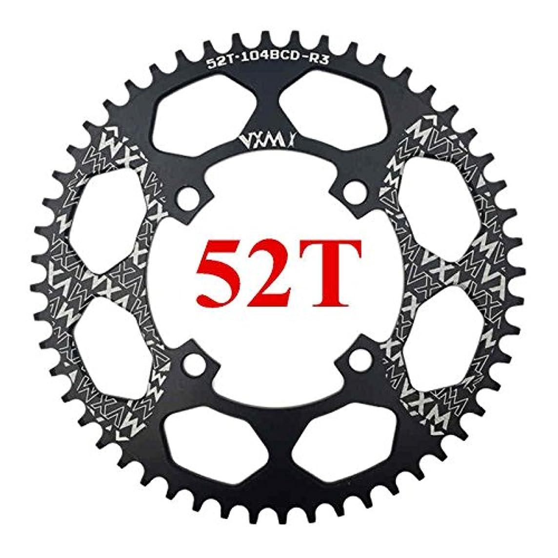 カテゴリードラム感謝しているPropenary - 自転車104BCDクランクオーバルラウンド30T 32T 34T 36T 38T 40T 42T 44T 46T 48T 50T 52TチェーンホイールXT狭い広い自転車チェーンリング[ラウンド52T...