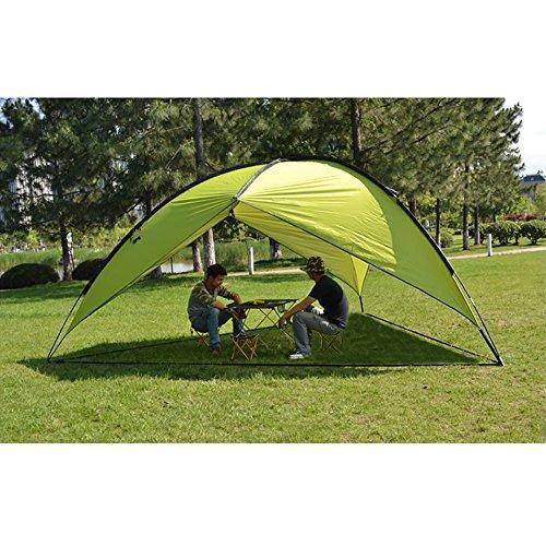 Oxking アウトドア キャンプ タープ パーティーシェード 5-8人 キャノピー uvカット 釣り ガーデン シェルター 耐水 サイドオーニング ビーチ テント TM01(草の緑, 三辺)