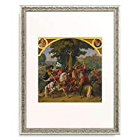 Hess, Hieronymus,1799-1850 「The assassination of King Albrechts I. (1255-1308) by his nephew J. Parricida.」 額装アート作品