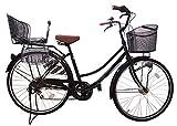 Lupinusルピナス 自転車 26インチ LP-266UA-KNR-B 軽快車 シマノ外装6段ギア オートライト 後子乗せブラック (ブラック)