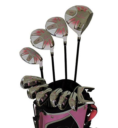 sephlin–Lady Talia署名ピンクRight Hand 13個セットゴルフクラブ&ゴルフバッグ11–14