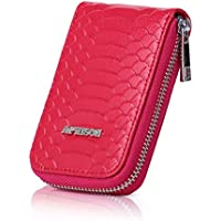 APHISON RFID Blocking Coin Pouch Purse Credit Card Case Holder Wallet With Zipper 010