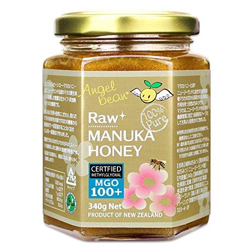 天然 非加熱 生マヌカハニー MGO100+ ニュージーランド産 マヌカ蜂蜜(生はちみつ)340g