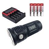ThruNite TN36 2017 LED フラッシュライト Max 10000 ルーメン CREE XPH 70 LED 対数スケール輝度調整システムは、70 ? 7,000ルーメン 含18650充電池×4本使用 MCC-4S充電器/4本用 (TN36