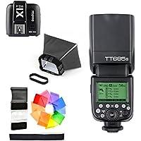 Godox TT685S HSS 1/8000S GN60 TTL スピードライト ストロボ フラッシュ 0.1-2.sリサイクルタイム 230フルパワー点滅 22ステップ電力出力(1/1~1-128) X1T-S 2.4G TTLワイヤレスフラッシュトリガー フラッシュディフューザーソフトボックス  フラッシュカラーフィルター MIホットシュー付きソニーデジタル一眼レフカメラSony DSLRに対応