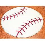 [ファーニッシュ]Furnish my Place Furnishmyplace Baseball Kids Rug, Round baseball 3'3 round [並行輸入品]