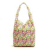 折り畳み式 防水ショッピングバッグ ピンク ハート柄 Shopping Bag (6129-13)