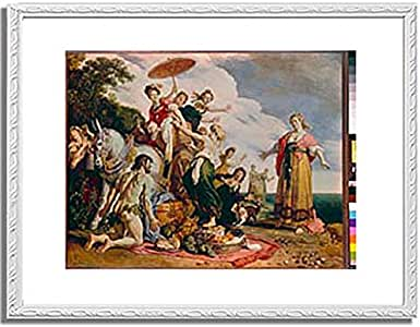 ピーテル・ラストマン「オデュッセウスとナウシカア Ulysses and Nausicaa. 1619 」 インテリア アート 絵画 プリント 額装作品 フレーム:装飾(白) サイズ:M (306mm X 397mm)