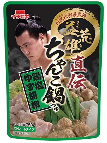 イチビキ ストレート益荒雄ちゃんこ鍋つゆ 鶏塩ゆず胡椒 750g