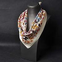 QingYun Trade シルクスモールスクエアメスシルクシルクスカーフギフトスカーフ (Color : 13, サイズ : 20.4×20.47inch)