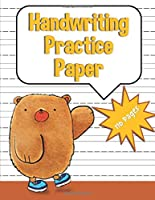 Handwriting Practice Paper: Bear